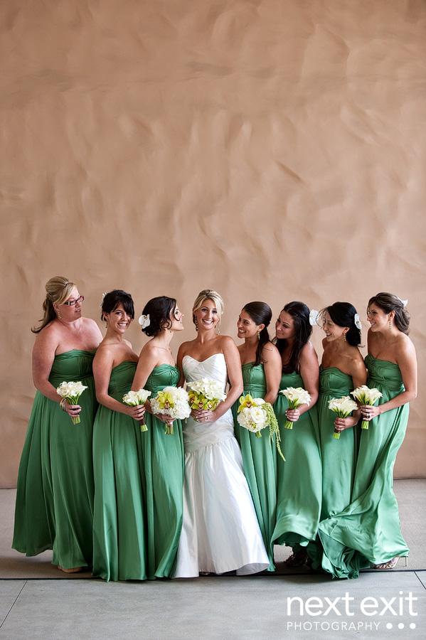 Hot wedding colors belle beau nw wedding blog for Green wedding bridesmaid dresses